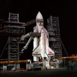 Buran on the launch pad