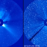 SOHO view of M9 flare.