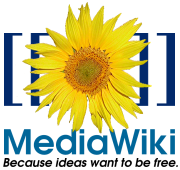 The MediaWiki logo, Because ideas want to be free.