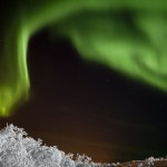 A geomagnetic storm on the night of January 24-25 produced an aurora at high latitudes