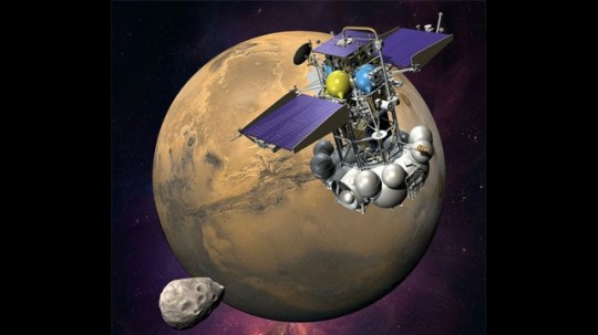 An artists rendering of the Russian Phobos-Grunt Mars probe