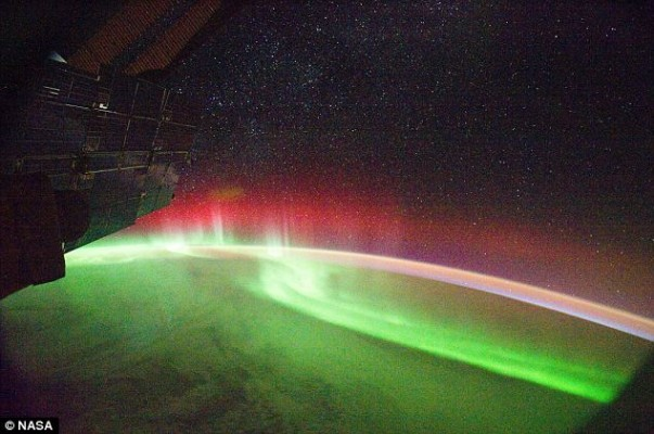 An Aurora Borealis seen from space