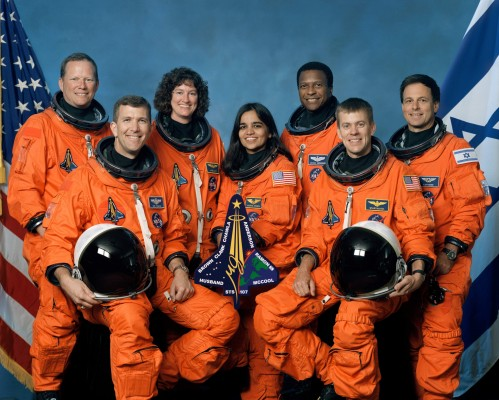 The photo of the STS-107 crew lost in the Columbia Space Shuttle disaster