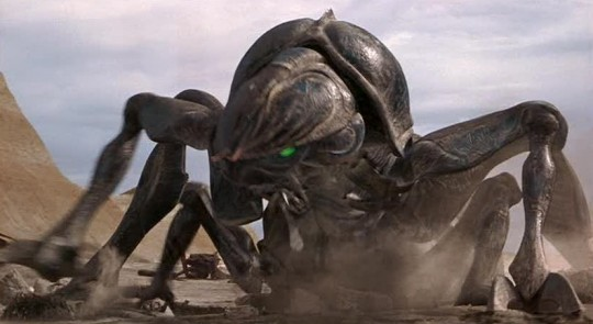 A fire breathing bug from the movie Starship Troopers