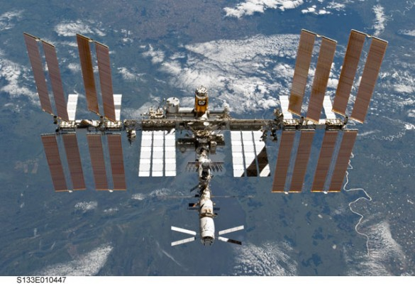The International Space Station in low Earth orbit