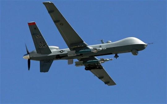 An MQ-9 Reaper model drone