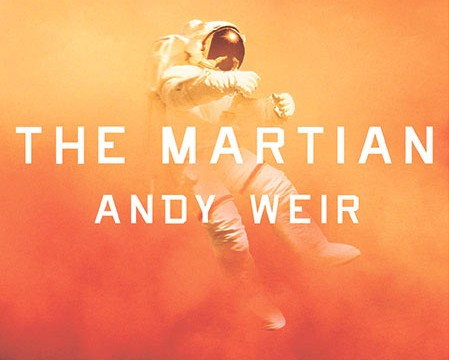 The book cover to The Martian