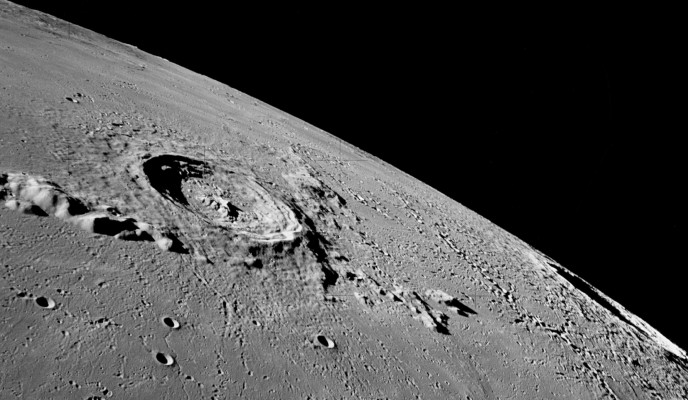 A picture of the lunar surface taken by Apollo 17