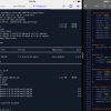 Prompt and Textastic running side by side.